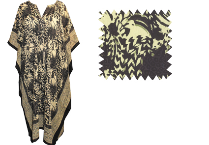 Kaftan Dress In Printed Cotton Ethical Fashion By Anokhi