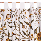 crewel work curtains