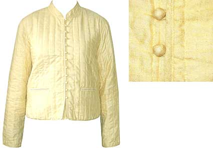 Sale Tussar Silk Quilted Jacket Hand Made In India
